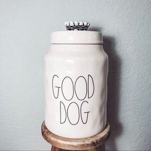 Rae Dunn Good Dog Crown Canister